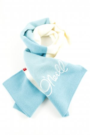 ONEILL Strickschal weiß-blau Schriftzug gestickt Casual-Look