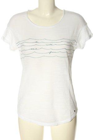 ONEILL T-shirt blanc-vert imprimé avec thème style décontracté