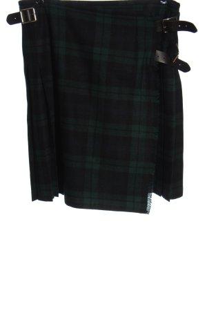 ONEILL Falda folclórica negro-verde estampado a cuadros look casual