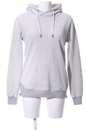Onepiece Capuchon sweater lichtgrijs gestippeld casual uitstraling