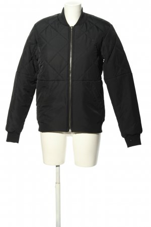 Onepiece Quilted Jacket black quilting pattern casual look
