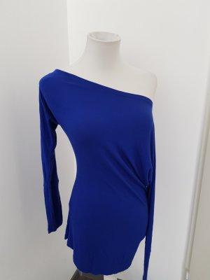 Laura Scott One Shoulder Shirt blue