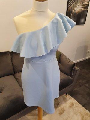 Asos One Shoulder Dress baby blue-azure