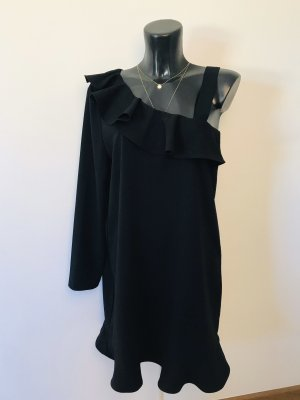 Mango One Shoulder Dress black