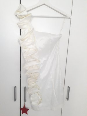 Daisies Robe asymétrique blanc