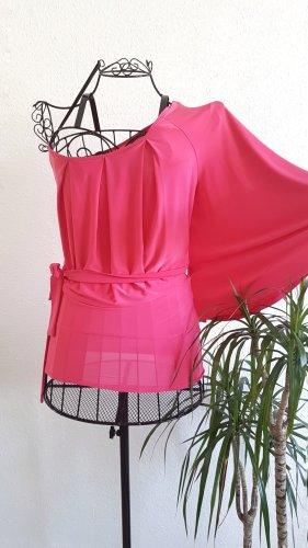 Atmosphere Top monospalla rosa-fucsia neon