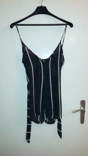 Blusa tipo body negro-blanco Viscosa