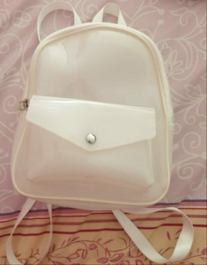 @ngy Six Mały plecak w kolorze białej wełny