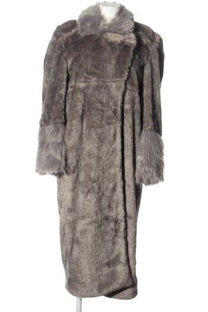 oneteaspoon Manteau en fausse fourrure gris clair élégant