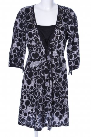 Onetouch styling legends Blusenkleid schwarz-lila abstraktes Muster Casual-Look