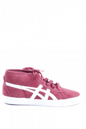 Onitsuka tiger Schnürsneaker weiß-rot Streifenmuster Casual-Look