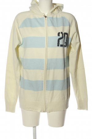 Onitsuka tiger Giacca in maglia bianco sporco-blu motivo a righe stile casual