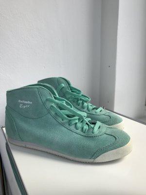 Onitsuka Tiger Tokyo sneakers velours Leder 39 mid runner nearly new hell grün light green turquoise