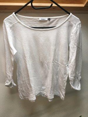 Only 3/4-Arm Shirt weiß Größe M