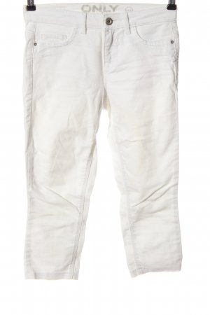 Only Jeansy 3/4 biały W stylu casual