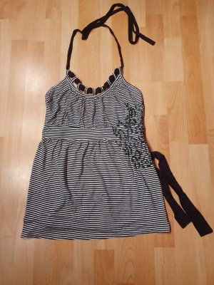 Only Halter Top white-black