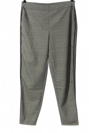 Only 7/8 Length Trousers black-cream check pattern business style