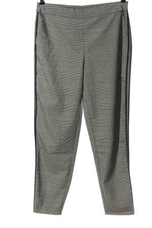 Only Pantalon 7/8 noir-crème motif à carreaux style d'affaires