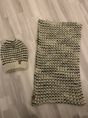 Only Knitted Scarf natural white-grey brown