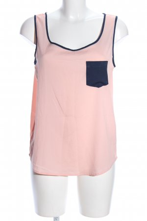 Only ärmellose Bluse pink-blau Casual-Look