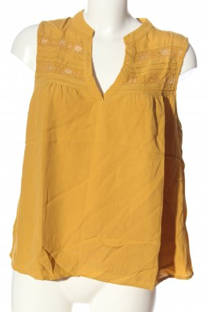 Only ärmellose Bluse hellorange Casual-Look