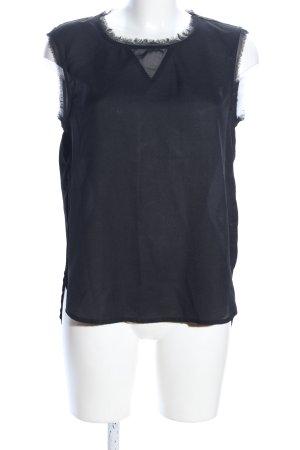 Only ärmellose Bluse blau Casual-Look