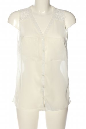 Only ärmellose Bluse creme Business-Look