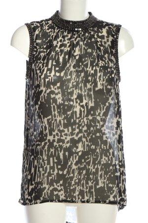 Only ärmellose Bluse schwarz-weiß grafisches Muster Casual-Look