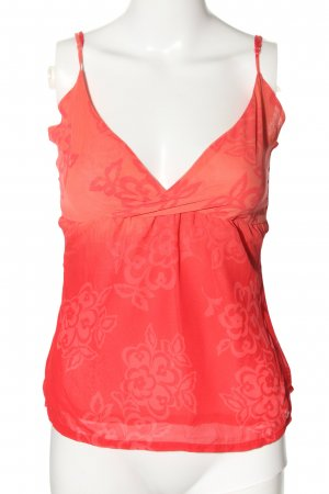 Only ärmellose Bluse rot abstraktes Muster Casual-Look