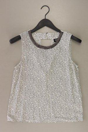 Only Ärmellose Bluse Größe 38 mit Pailletten weiß aus Viskose