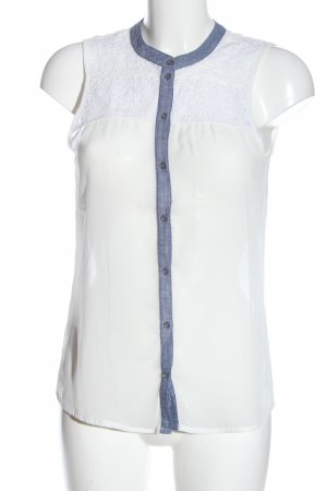 Only ärmellose Bluse weiß Casual-Look