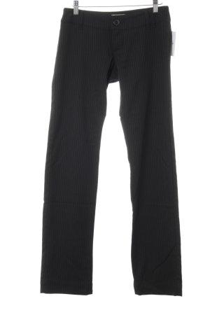 Only Anzughose schwarz-grün Streifenmuster Business-Look