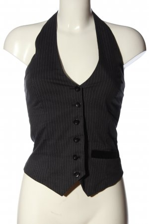 Only Anzugweste schwarz-weiß Streifenmuster Business-Look