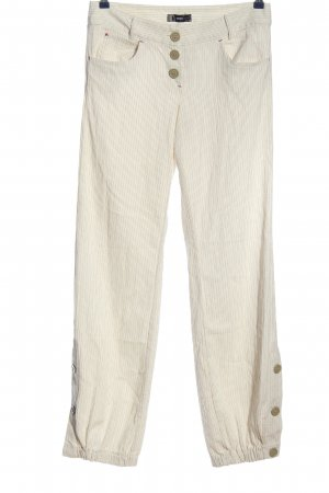 Only Baggy Pants natural white-light grey striped pattern casual look