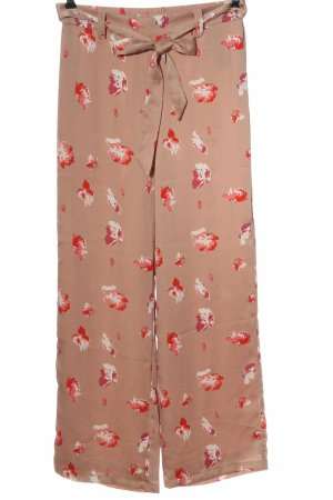 Only Baggy Pants brown-red flower pattern casual look