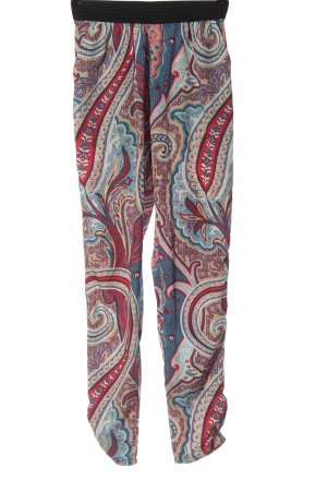 Only Baggy Pants blue-red allover print casual look