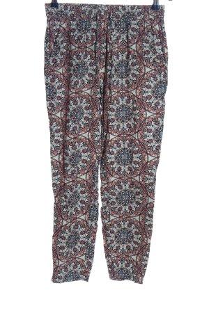 Only Luźne spodnie Abstrakcyjny wzór W stylu casual