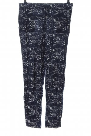 Only Baggy Pants blau-weiß Allover-Druck Casual-Look