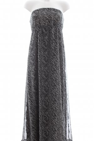 Only Bandeau Dress light grey-black allover print casual look