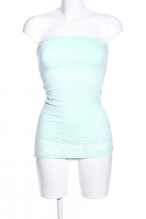 Only Bandeau top turkoois casual uitstraling