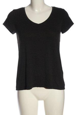 Only Basic-Shirt schwarz meliert Casual-Look