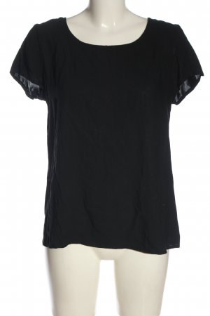 Only Basic-Shirt schwarz Casual-Look
