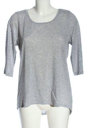 Only Basic-Shirt hellgrau meliert Casual-Look
