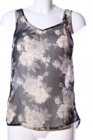 Only Basic topje zwart-room bloemenprint casual uitstraling