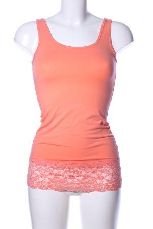 Only Basic topje licht Oranje bloemenprint casual uitstraling