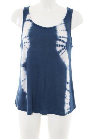 Only Batikshirt blau-weiß abstraktes Muster Casual-Look