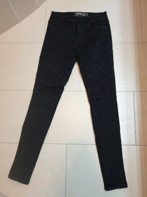 Only Jeans da motociclista nero Cotone