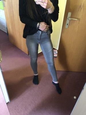 Only Jeans de moto gris-gris clair