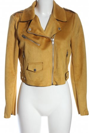 Only Biker Jacket brown casual look