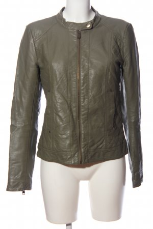 Only Bikerjacke khaki Steppmuster Casual-Look
